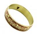Pierres-Santé Bijoux - Bracelet manchette Femme motif ethnique émaillé