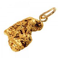 Pépites d'or pendentifs